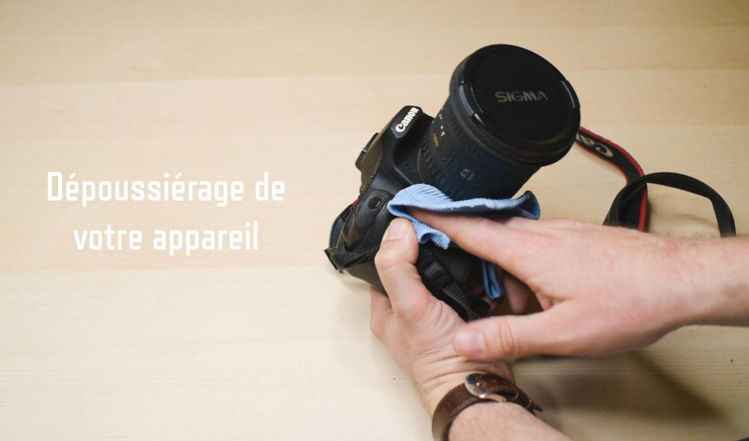 Nettoyage dépoussierage appareil photo numérique Maisons-Laffitte Yvelines 78 Christophe Lefebvre Photographe texte