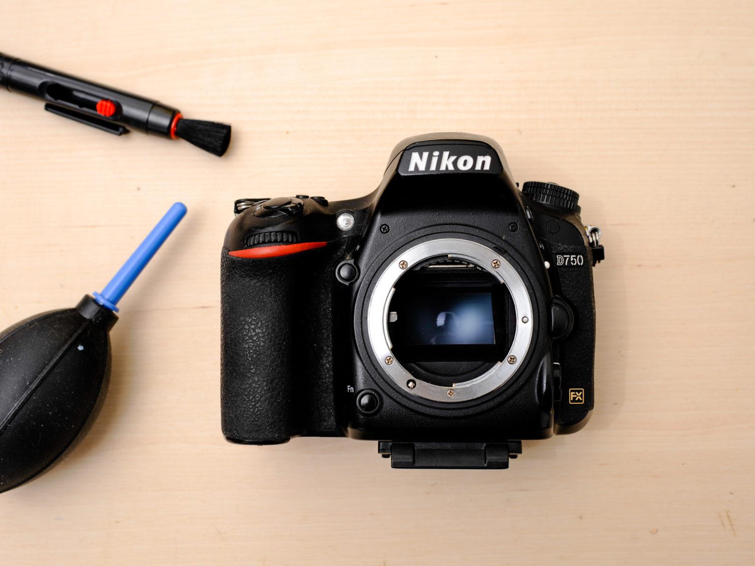 Nettoyage de capteur appareil Nikon d750 plein format full frame fx Atelier Christophe Lefebvre Maisons-Laffitte Yvelines 78